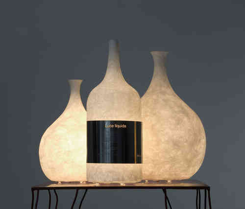 Lámparas de diseño. Jarrón y botella