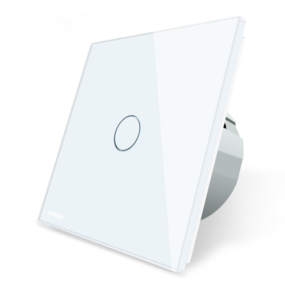Elegante interruptor de luz de cristal