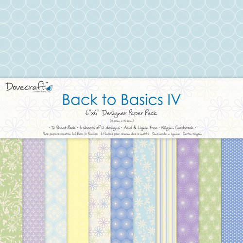 "Pack de Hojas Dovecraft 6x6 ""Back to Basics IV"""