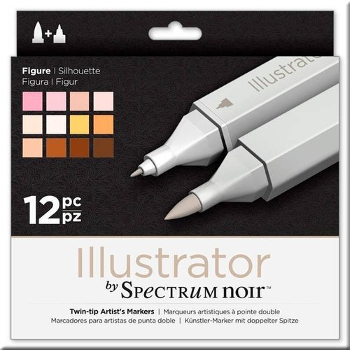 Rotuladores Spectrum  Illustrator- Figure- 12pz