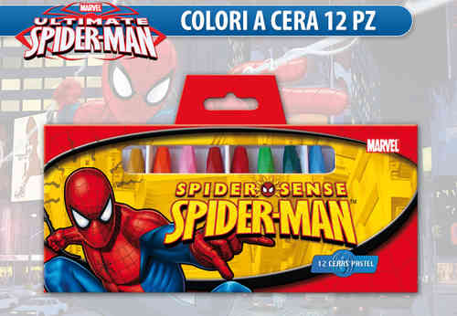 crayons 12 pcs spiderman