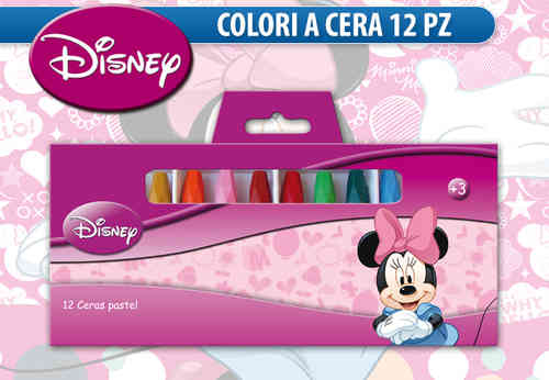 crayons 12 pcs minnie