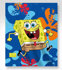 Fleece blanket Sponge Bob 120x140