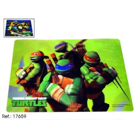 set de table 3D 42x28 turtles