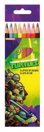 8 crayon couleur turtles