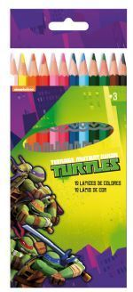 12 crayon couleur turtles