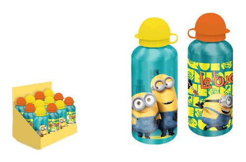 botella aluminio minions 500ml