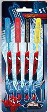 4 stylo gel Spiderman