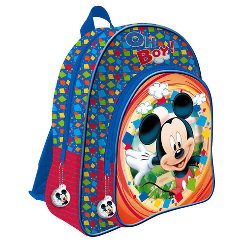 sac a dos Adaptable sur chariot à roulettes Mickey 33x41