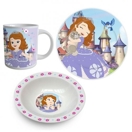 set dejeuner ceramique 3 pcs Sofia