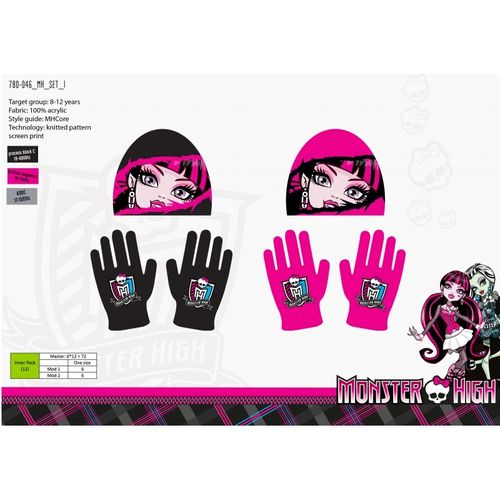 gorro guantes Monster high
