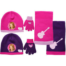Hat, Scarf and Gloves violetta