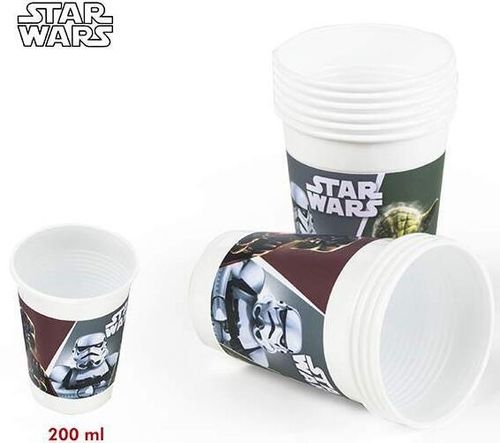 10 vaso plastico Star wars 200ml