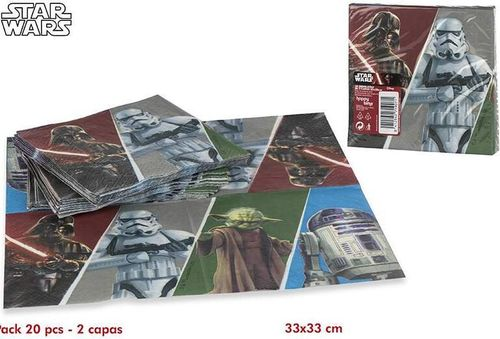 20 servilletas Star wars 33cm