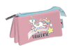 trousse triple Unicorn 21x11cm