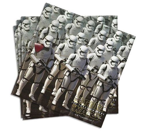 20 servilletas papel Star wars 33cm