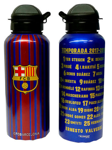 botella aluminio FCB 400ml