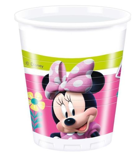 8 gobelet plastique Minnie 200ml