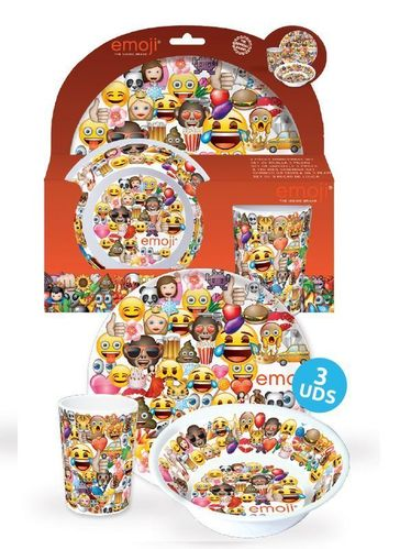 set melamina 3 pcs Emoji