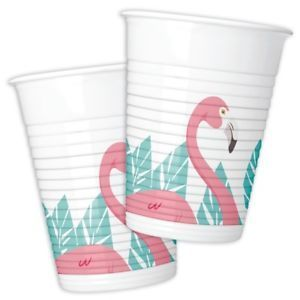 8 gobelet plastique flamingo 200ml