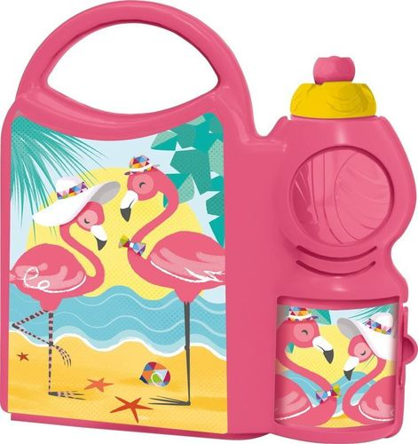 combo set bouteille sport Flamingo 400ml