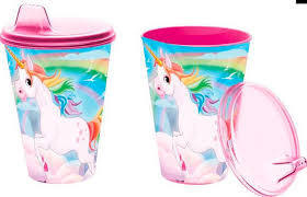 vaso 430ml sipper Unicornio
