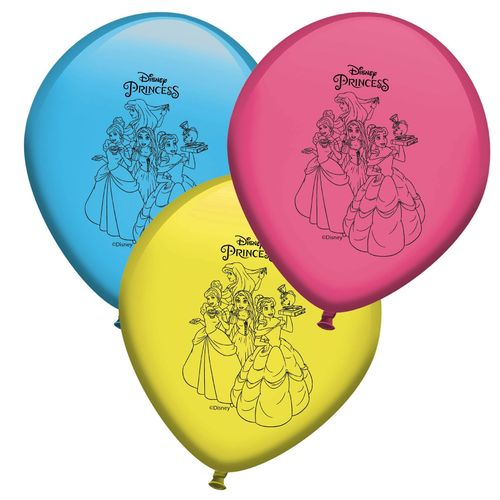 set 8 globos Princesa