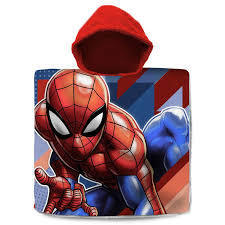 poncho cotton Spiderman 60x120