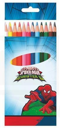 12 lapices color Spiderman