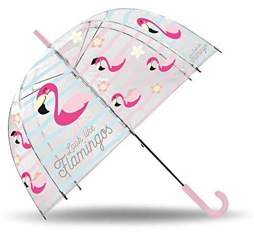 parapluie transparent Flamingo 48cm