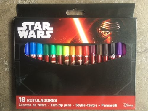 18 rotuladores Star Wars
