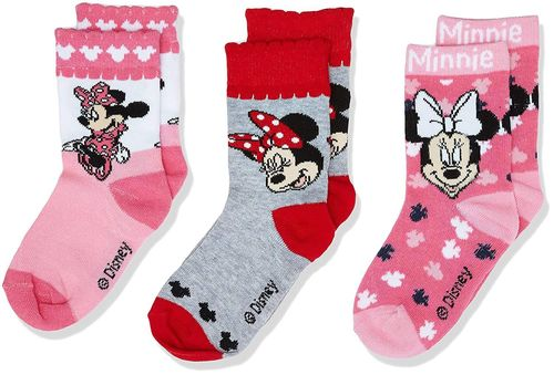 set 3 calcetines Minnie 23/26 27/30 31/34