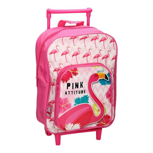cartable a roulettes flamingo 36x24x12cm