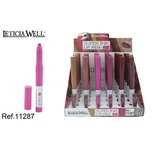 CRAYON À LEVRES SUPER INK 24H.(0.65€ UNITE) PACK 24 LETICIA WELL