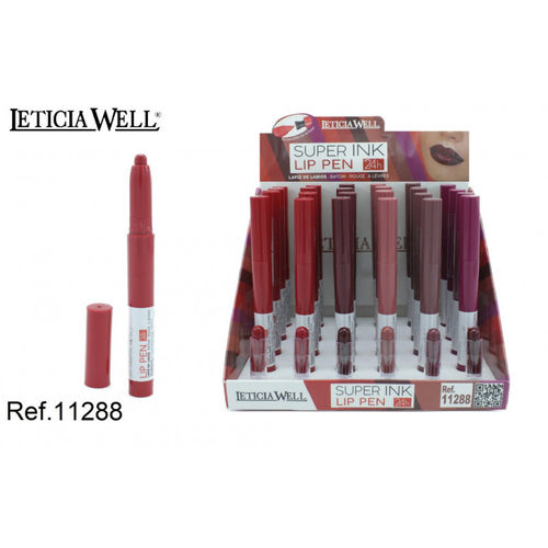 CRAYON À LEVRES INK 24H.(0.65€ UNITE) PACK 24 LETICIA WELL