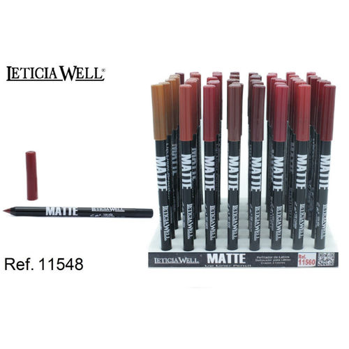 CRAYON À LEVRES 8 COLORS 14 CM. (0.41 € UNITE) PACK 48 LETICIA WELL