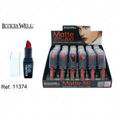ROUGE À LEVRES FIXE + MATTE 6 COULEURS (0.70€'UNITE) PACK 24 LETICIA WELL