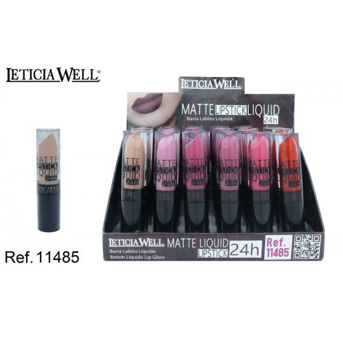 ROUGE À LEVRES MATTE LIQUID 24H. 6 COULEURS (0.60€'UNITE) PACK 24 LETICIA WELL
