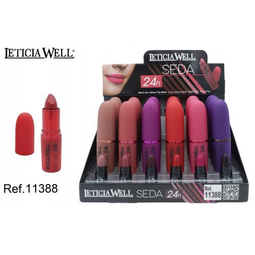 ROUGE À LEVRES SEDA 6 COULEURS (0.88€ UNIDAD) PACK 24 LETICIA WELL