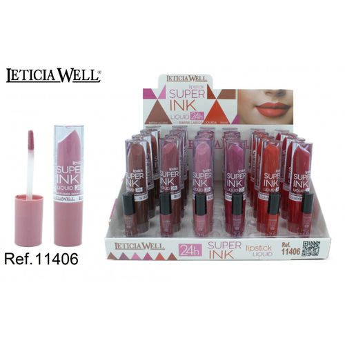 ROUGE À LEVRES LIQUIDA SUPER INK 24H.(0.65€ UNITE) PACK 24 LETICIA WELL