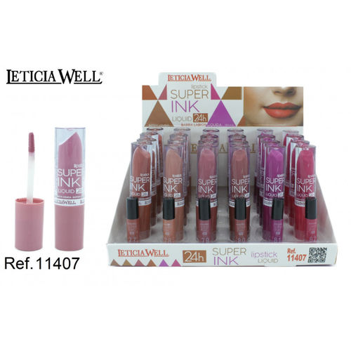 ROUGE À LEVRES LIQUIDA SUPER INK 24H.(0.65€ UNIDAD) PACK 24 LETICIA WELL