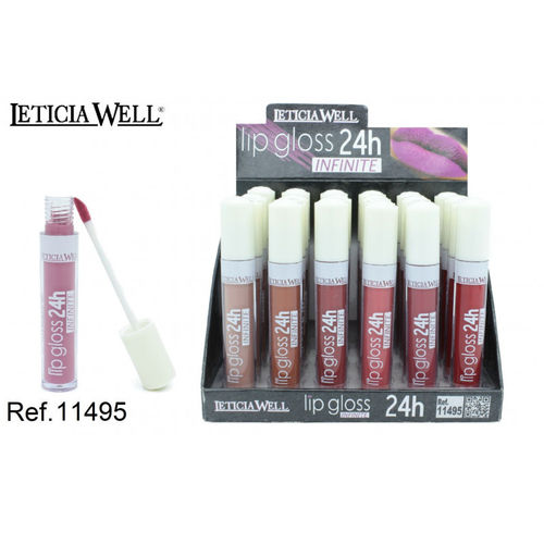LIPGLOSS 24H. INFINITE 6 COULEURS (0.65 € UNITÉ) PACK 24 LETICIA WELL
