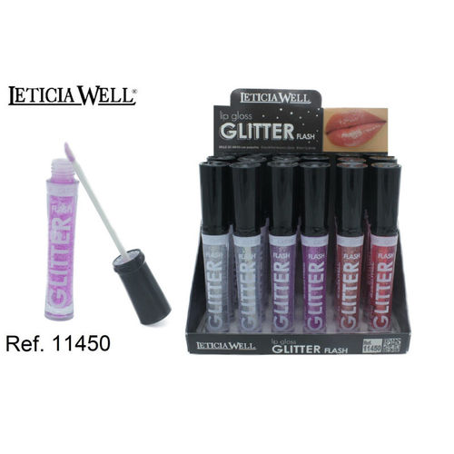 LIPGLOSS GLITTER FLASH 6 COLORS (0.55 € UNITE) PACK 24 LETICIA WELL
