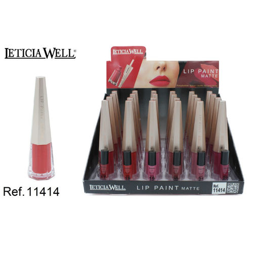LIP PAINT MATTE 6 COLORES(0.75€ UNITE) PACK 24 LETICIA WELL