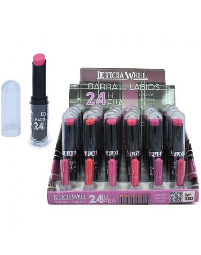 ROUGE À LEVRES FIXE 24H 6 COULEURS (0.60€'UNITE) PACK 24 LETICIA WELL