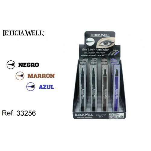 EYELINER ROTULADOR ULTRA-PRECISION 3 COLORES (1.2€' UNIDAD)PACK 16 LETICIA WELL