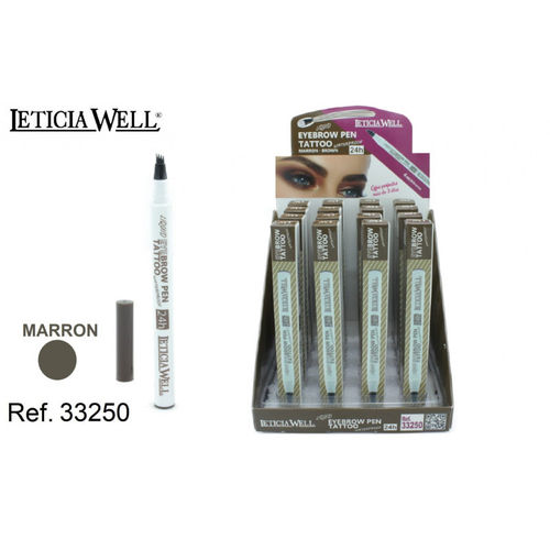 FEUTRE À SOURCILS BRUN 24H.(1.05€ UNITE) PACK 16 LETICIA WELL