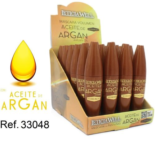 MASCARA ARGAN NOIR (0.65€ UNITE) PACK 24 LETICIA WELL