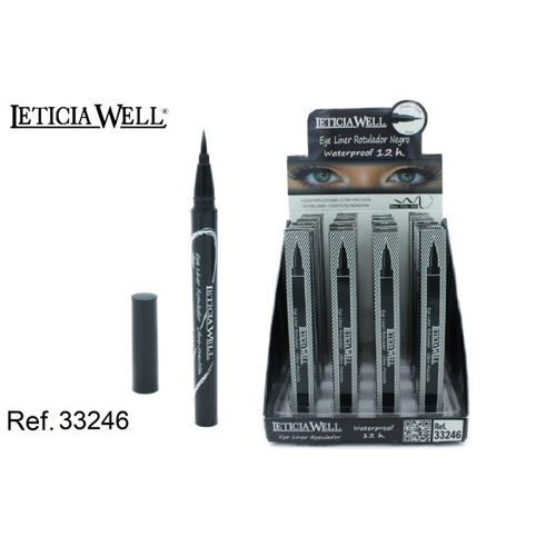 EYELINER NOIR 12H. WATERPROOF (1.2€ UNITE) PACK 16 LETICIA WELL