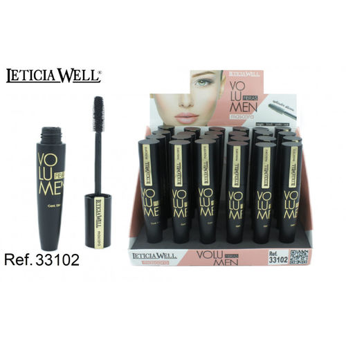 MASCARA NOIR FIBRES VOLUME(0.65€ UNITE) PACK 24 LETICIA WELL